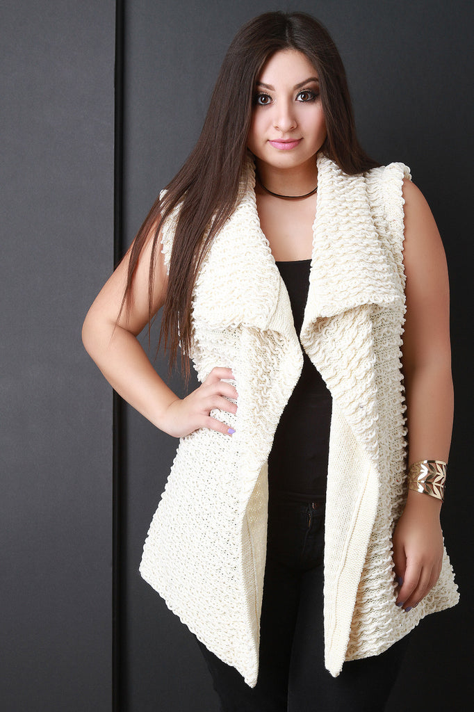 Pulled Knit Sweater Vest - Rich Girl's Closet - 1