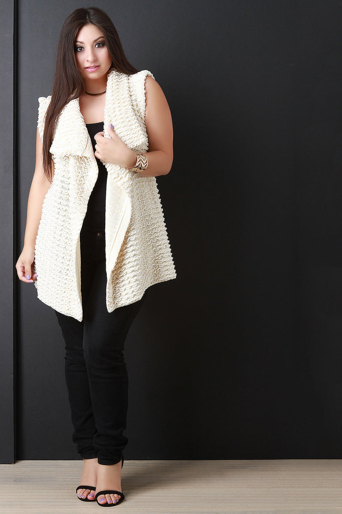 Pulled Knit Sweater Vest - Rich Girl's Closet - 3
