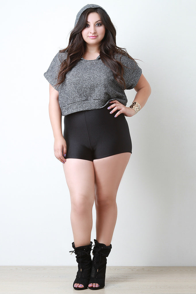 Shimmer High Waisted Spandex Shorts - Rich Girl's Closet - 4