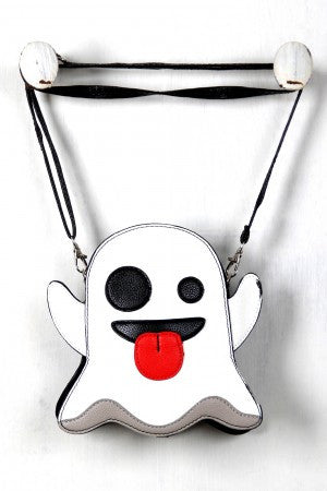Ghost Emoji Novelty Crossbody Bag - Rich Girl's Closet - 4