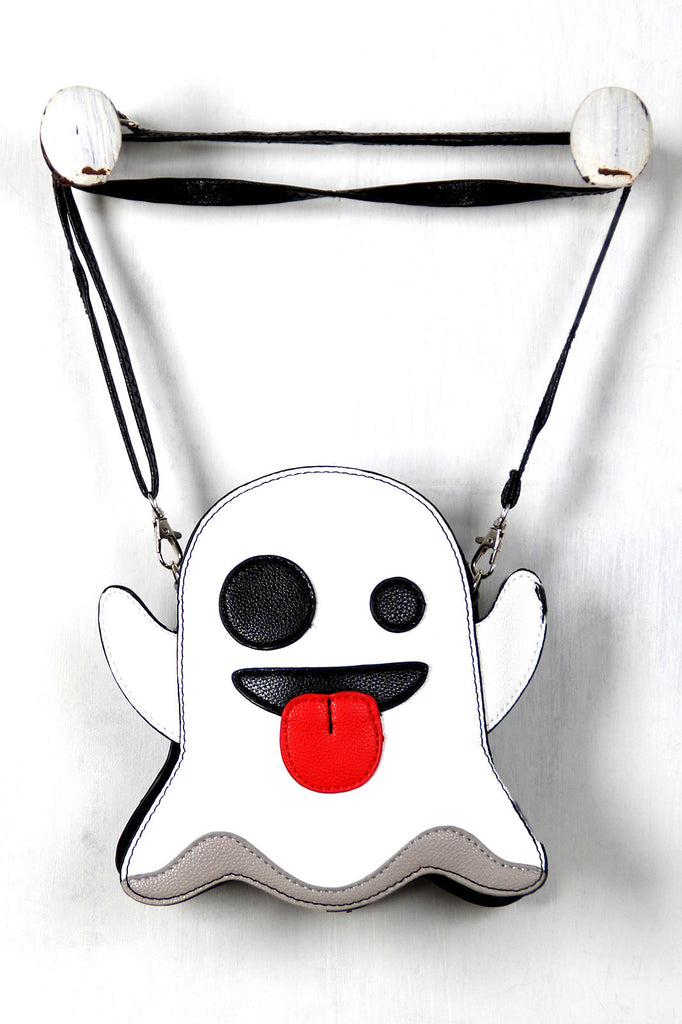 Ghost Emoji Novelty Crossbody Bag - Rich Girl's Closet - 5