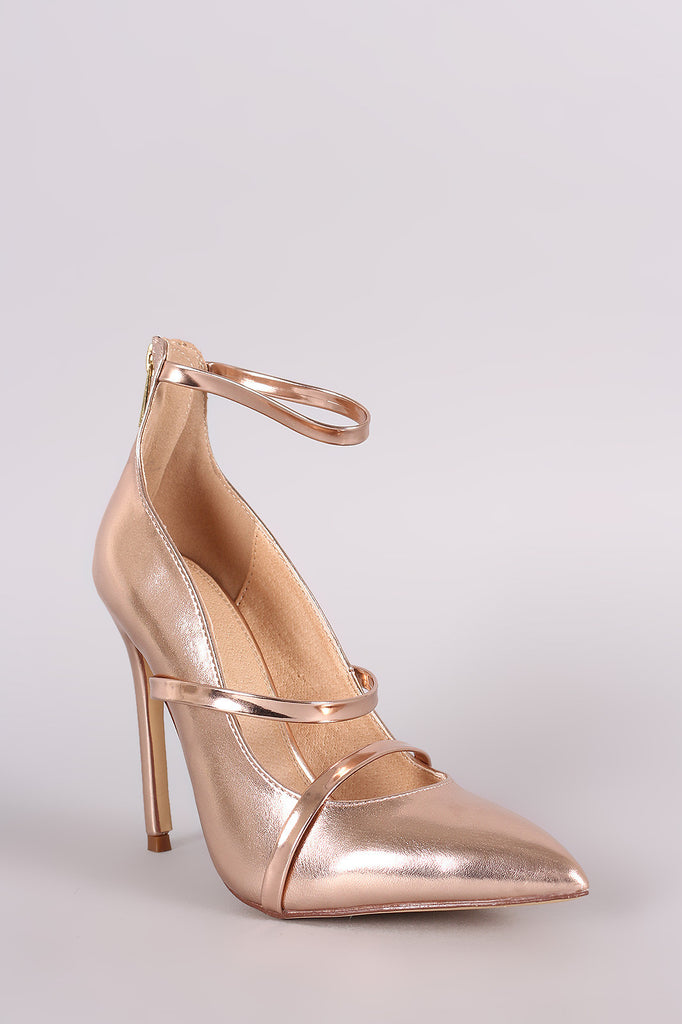 Liliana Metallic Trio Straps Stiletto Pump - Rich Girl's Closet - 2