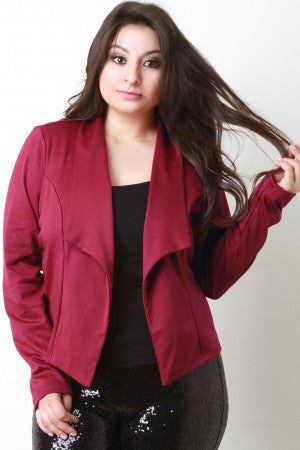 Flap Collar Blazer Jacket - Rich Girl's Closet - 10