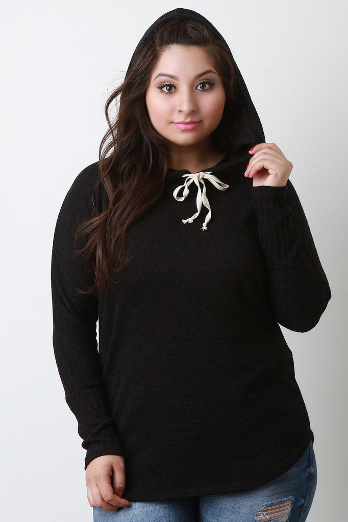 Hooded Long Sleeves Top - Rich Girl's Closet - 7