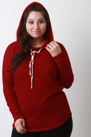 Hooded Long Sleeves Top - Rich Girl's Closet - 10