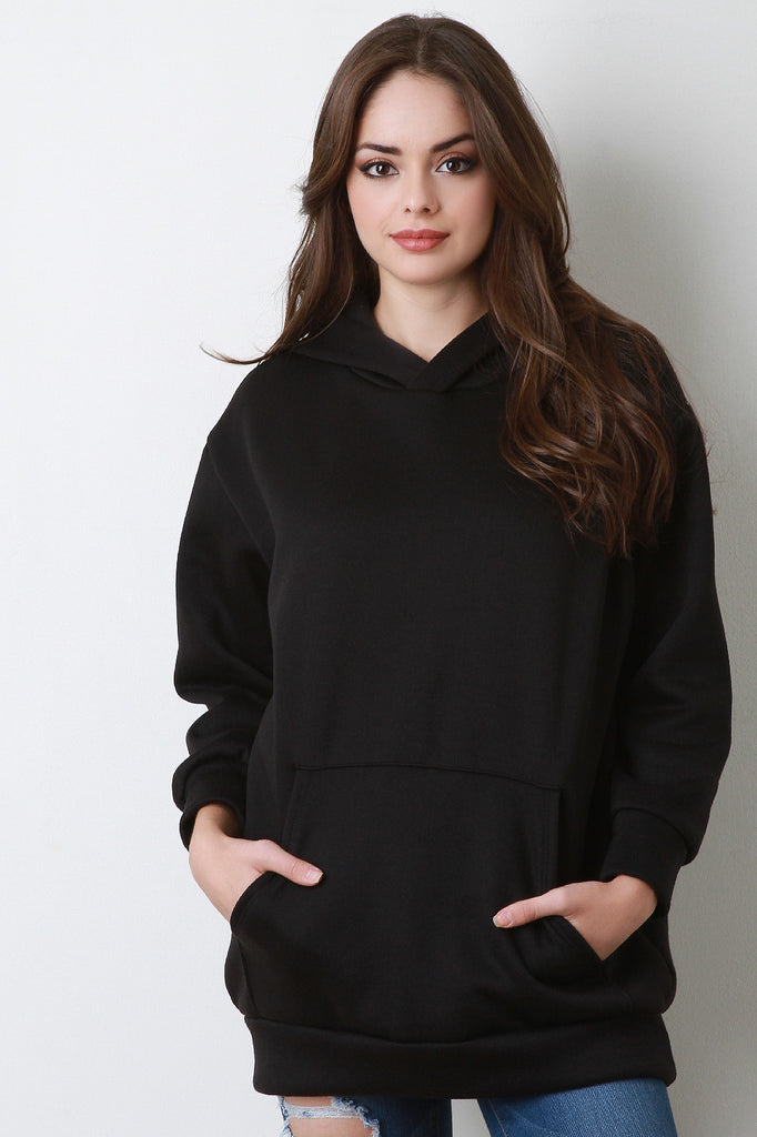 Basic Over-sized Long Sleeve Hoodie - Rich Girl's Closet - 2
