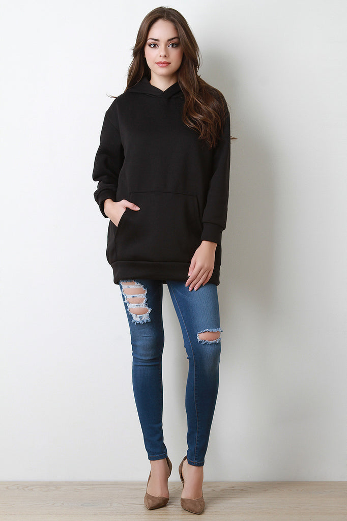 Basic Over-sized Long Sleeve Hoodie - Rich Girl's Closet - 3