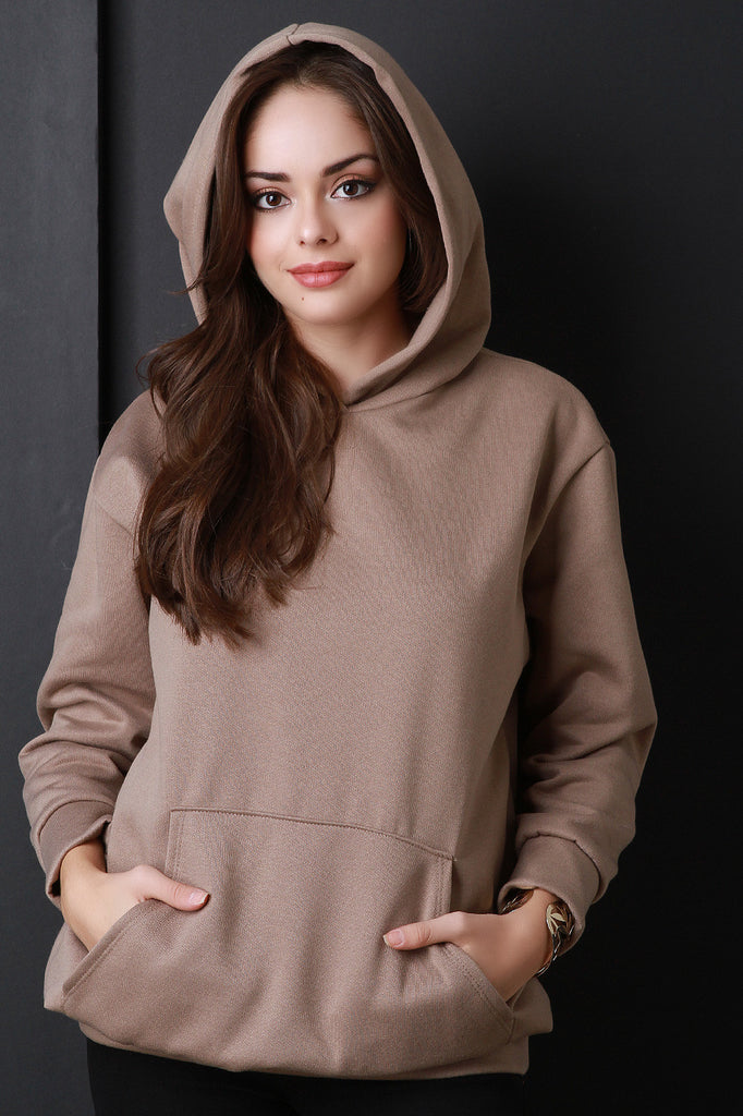 Basic Over-sized Long Sleeve Hoodie - Rich Girl's Closet - 5