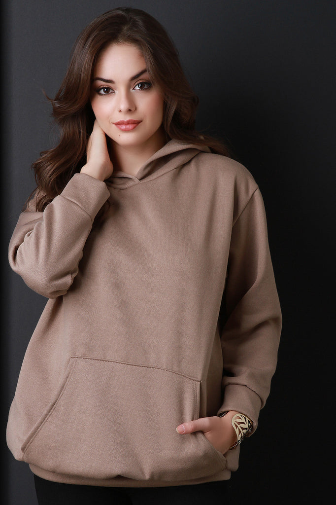 Basic Over-sized Long Sleeve Hoodie - Rich Girl's Closet - 6