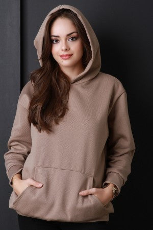 Basic Over-sized Long Sleeve Hoodie - Rich Girl's Closet - 4