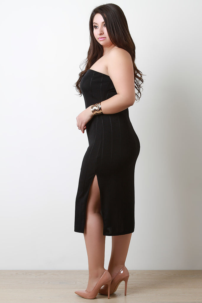 Plus Size Vertical Tube Bandage Dress - Rich Girl's Closet - 7