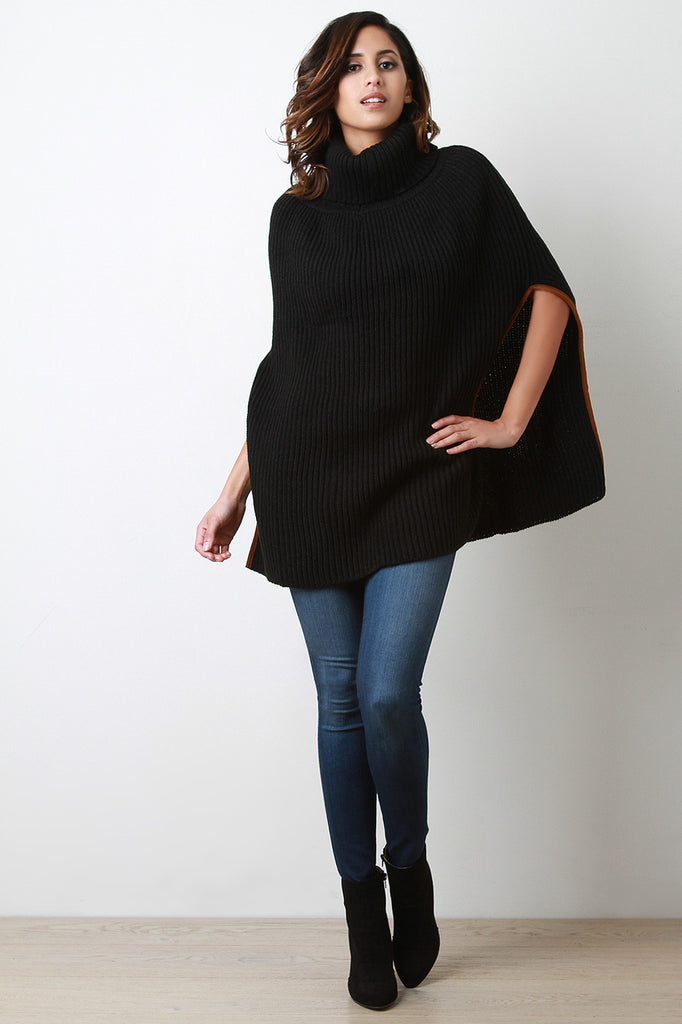 Knitted Turtle Neck Poncho - Rich Girl's Closet - 12