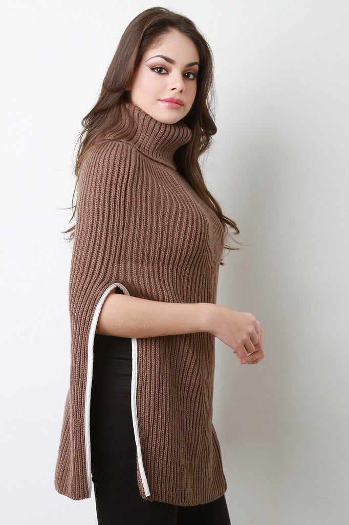 Knitted Turtle Neck Poncho - Rich Girl's Closet - 8