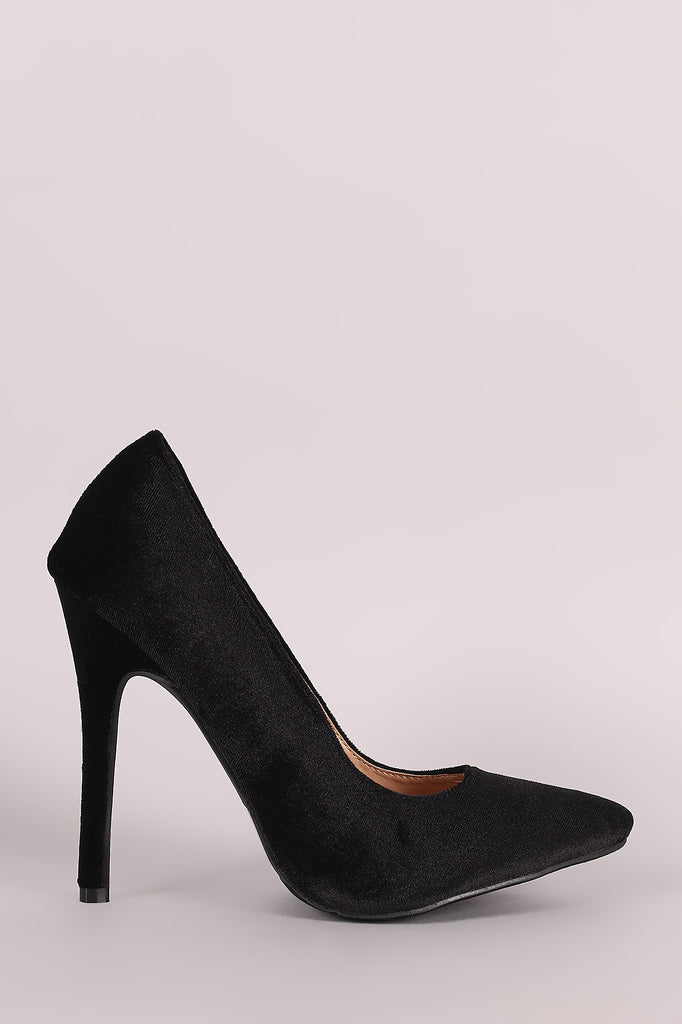 Velvet Pointy Toe Stiletto Pump