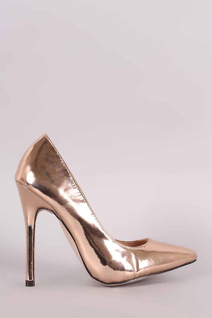Glossy Patent Pointy Toe Stiletto Pump