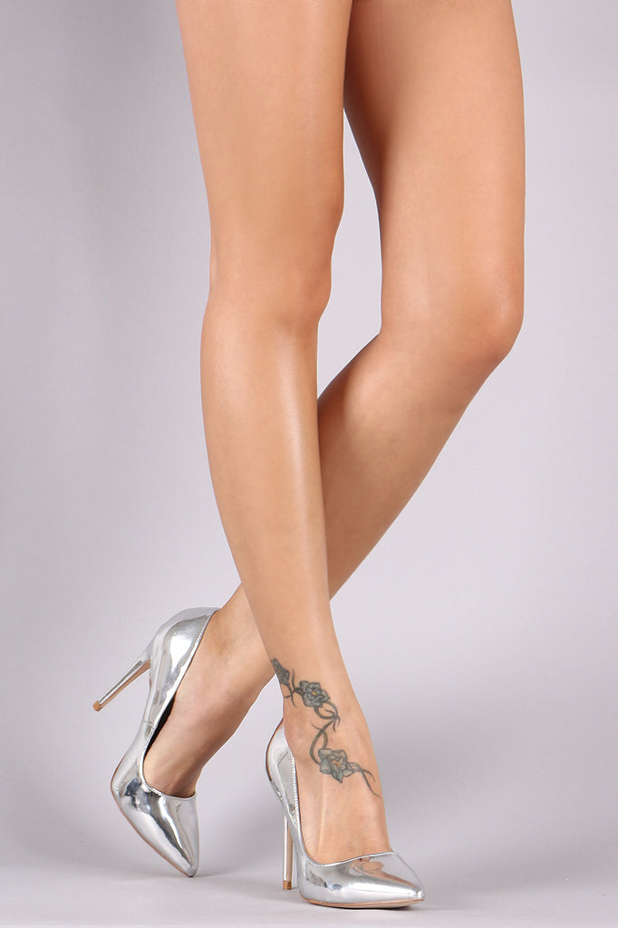 Anne Michelle Patent Pointy Toe Stiletto Pump