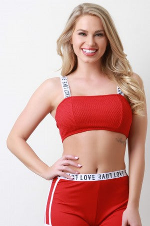 Love Band Active Bandeau Top