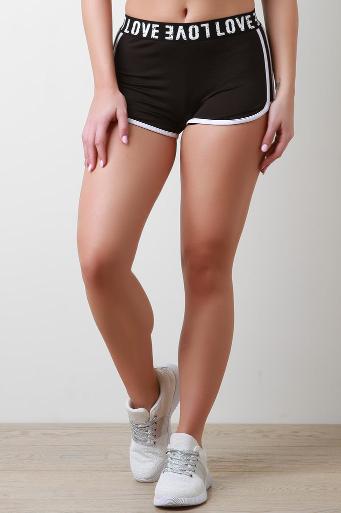 Wide Love Band Track Shorts