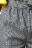 Paperbag Glen Plaid Tailor Pants