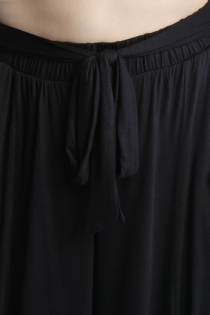 High Rise Waist Sash Wide Leg Pants