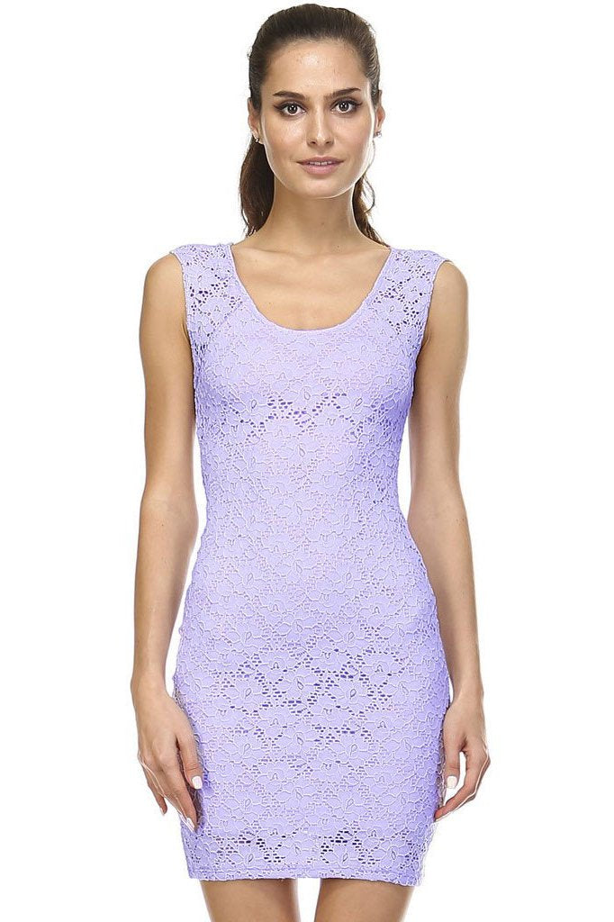 Women's Sleeveless Lace Bodycon Dress