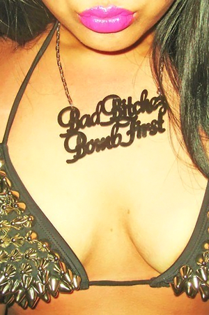 Bad Bitches Bomb First Necklace - Rich Girl's Closet - 1