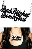 Bad Bitches Bomb First Necklace - Rich Girl's Closet