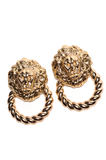 Queen of the Jungle Doorknocker Earrings - Rich Girl's Closet - 9