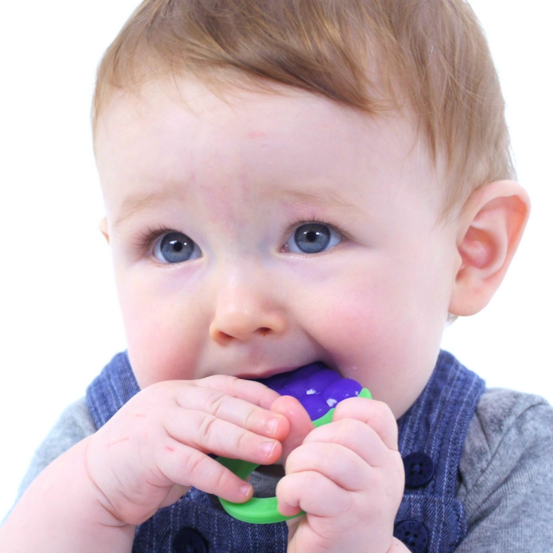 WIMMZI - Tutti Frutti Teether Toys - Grape BPA-free Silicone Teether