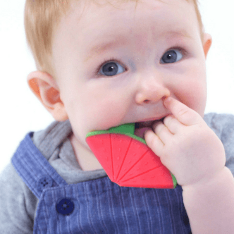 WIMMZI - Tutti Frutti Teether Toys - Watermelon BPA-free Silicone Teether