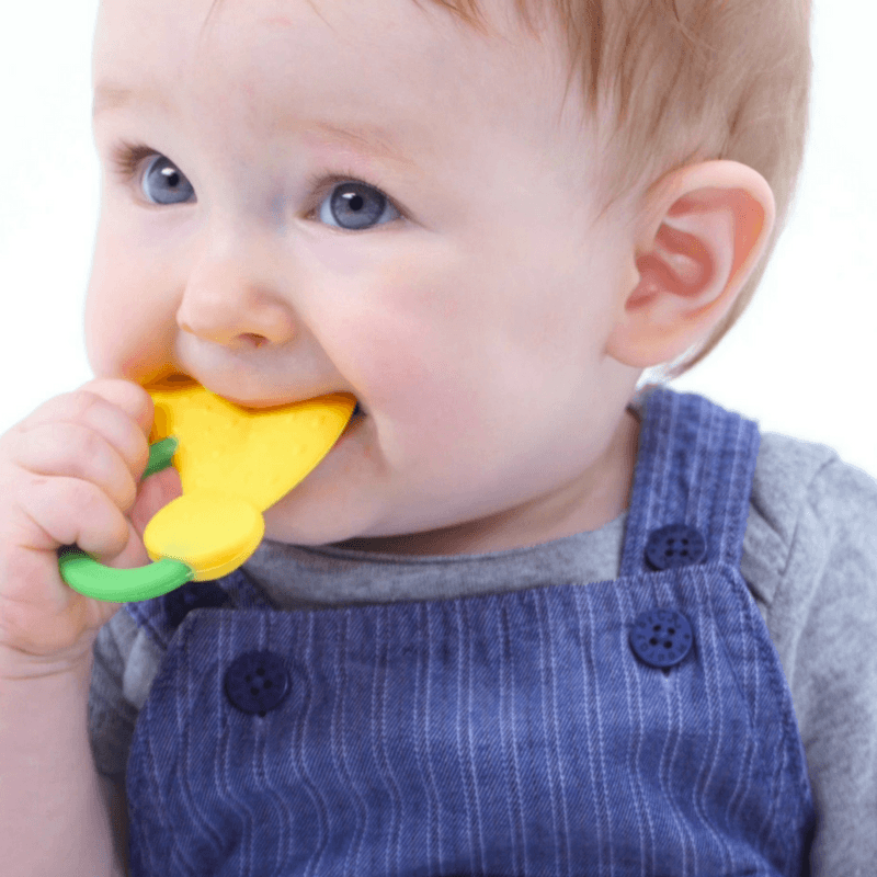 WIMMZI - Tutti Frutti Teether Toys - Banana BPA-free Silicone Teether