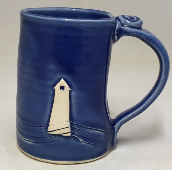 Lighthouse beer mug