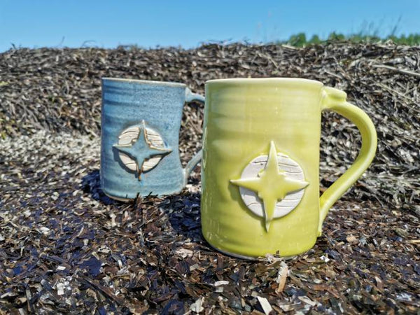 Compass rose beer mug