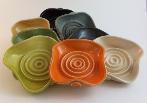 Soap Dish - Orange - Poterie Ginette Arsenault - 7