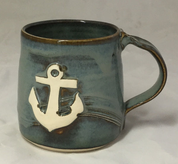 Anchor Mug - Blue - Poterie Ginette Arsenault - 11