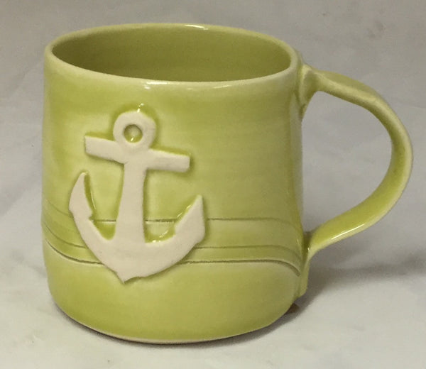 Anchor Mug - Lime - Poterie Ginette Arsenault - 13