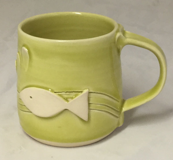 Fish Mug - Lime - Poterie Ginette Arsenault - 11