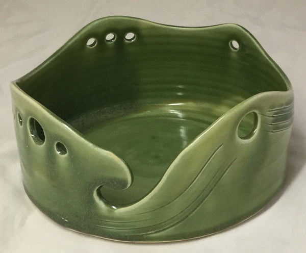 Yarn Bowl - Green - Poterie Ginette Arsenault - 4