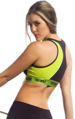 Protokolo - Green and Black Sports Bra - Roni Taylor Fit  - 2
