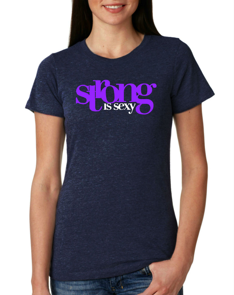 Strong Is Sexy 1 (Purple) T-Shirt