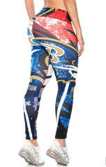 Fiber - Baltimore Ravens Leggings - Roni Taylor Fit  - 3