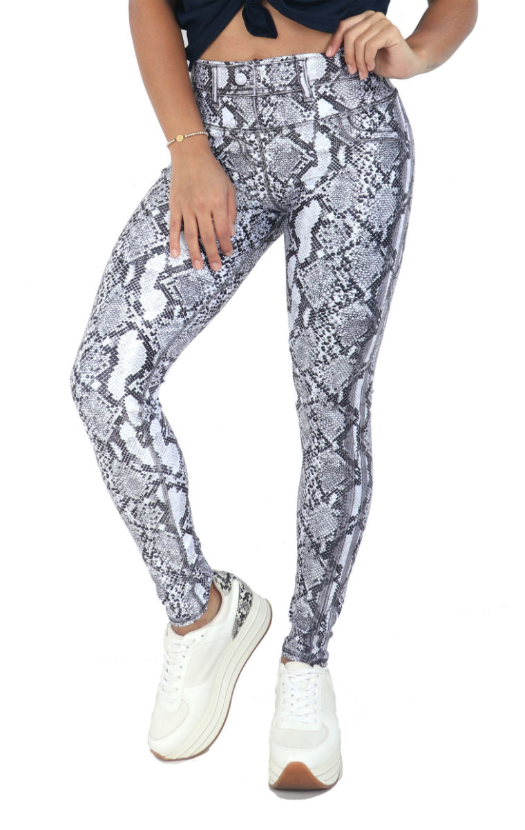 FP - Black & White Viper Jean Leggings