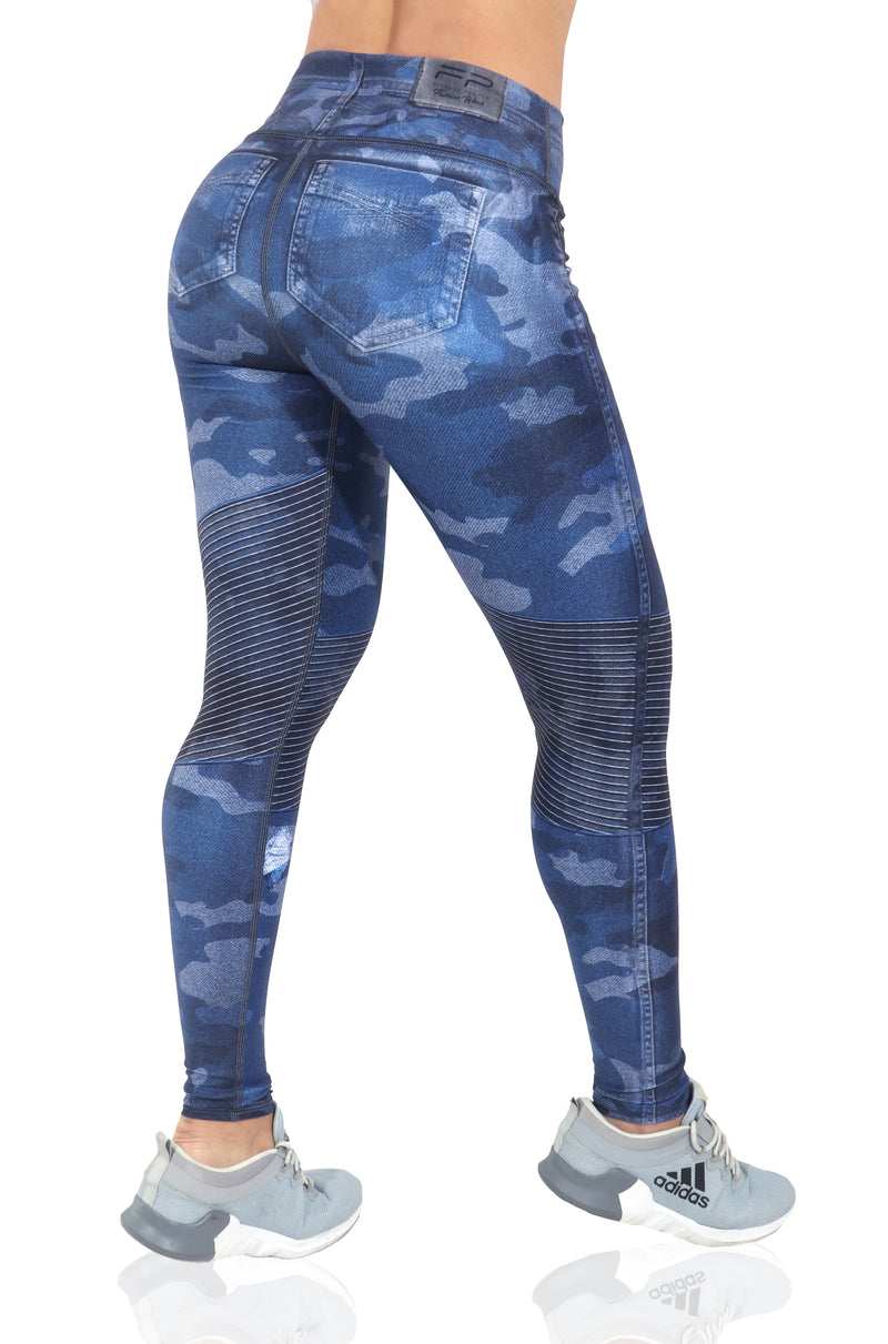 FP - Blue Camo Jean Leggings