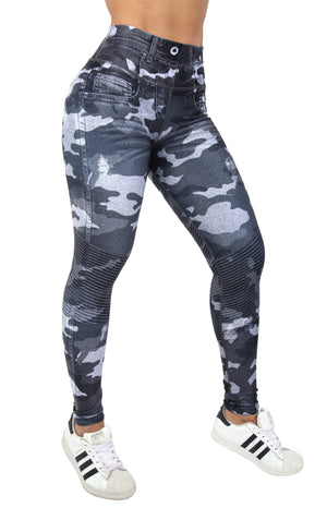 FP - Grey Camo Jean Leggings