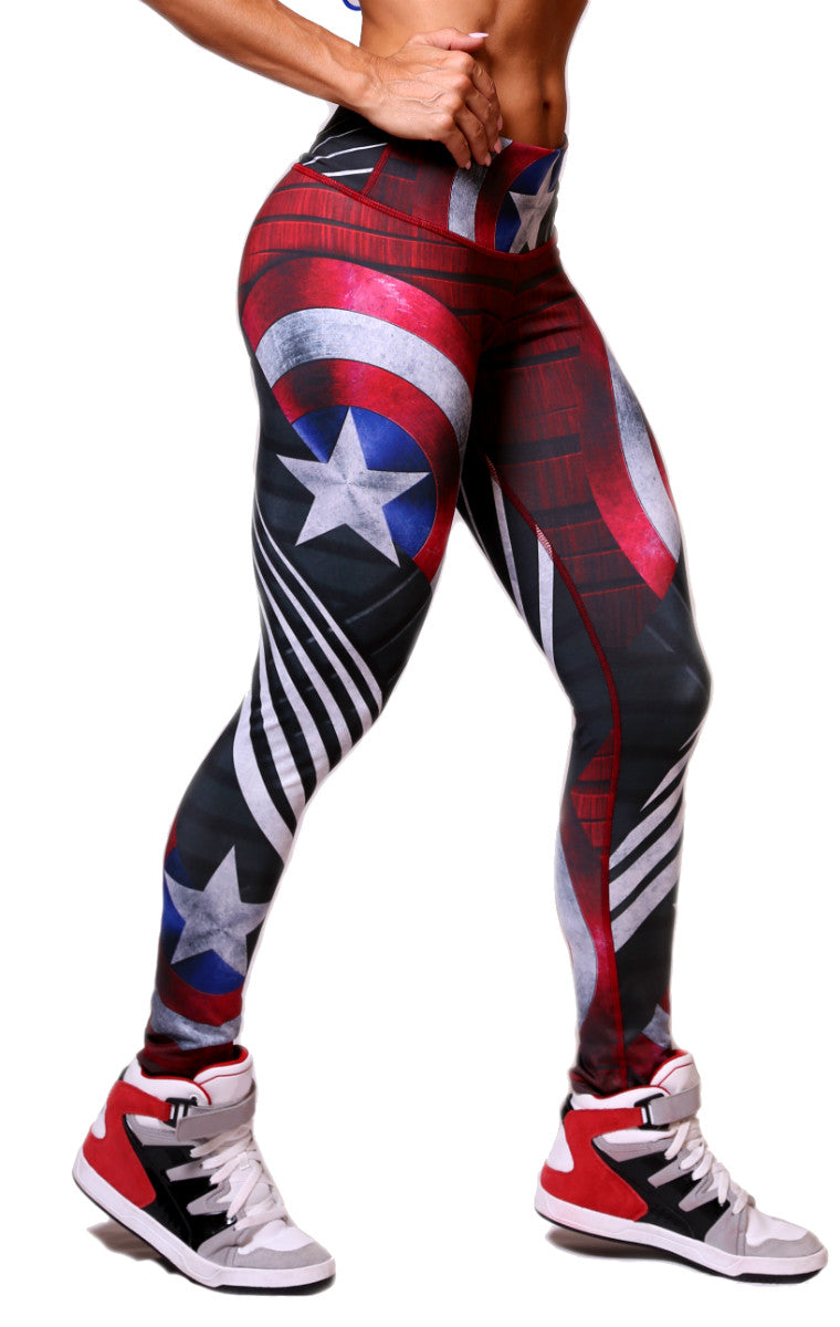 Exit 75 - Captain America Leggings