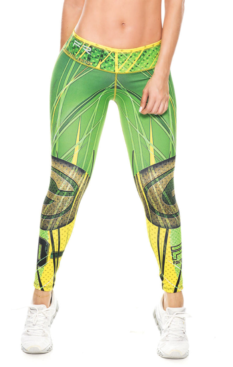 Fiber - Green Bay Packers Leggings - Roni Taylor Fit  - 1