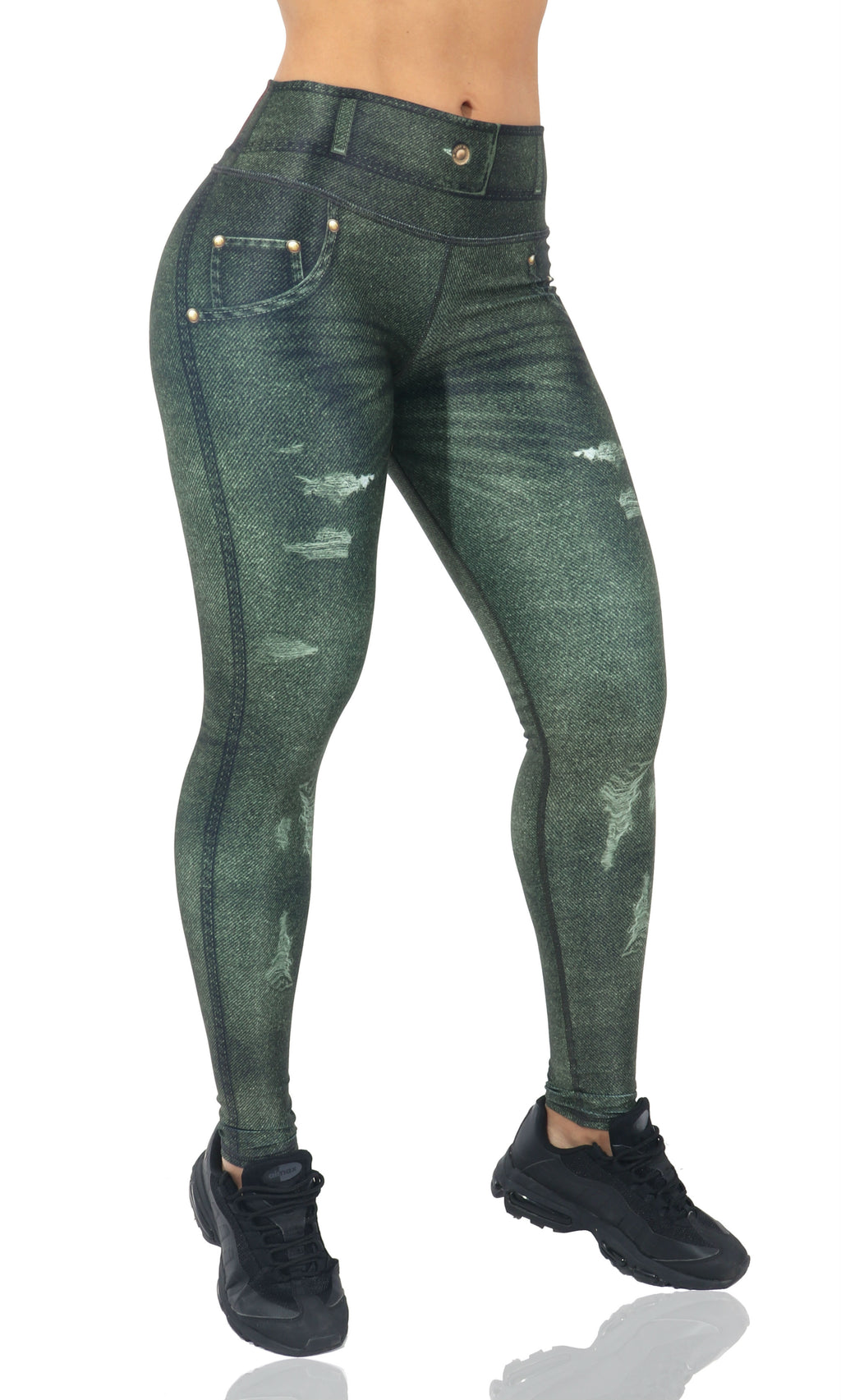 FP - Green Jean Leggings