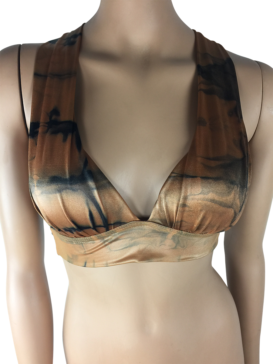 Vestem - Brown and Black Sports Bra - Roni Taylor Fit  - 1