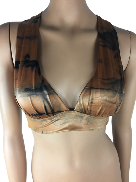 Vestem - Brown and Black Sports Bra