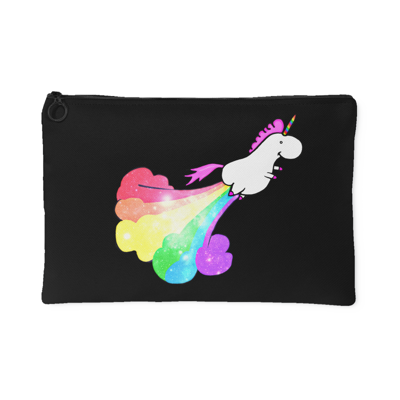 Rainbow Fart Unicorn Accessory Pouch - 2 sizes